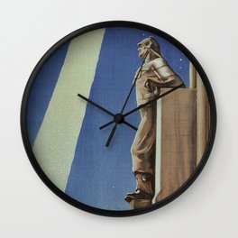 Trieste art deco Italian travel ad Wall Clock