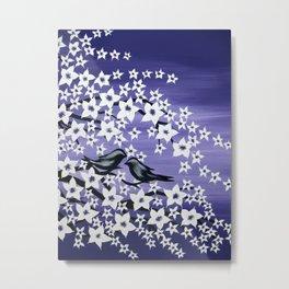 purple sakura Metal Print