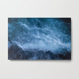 Waves from above Metal Print