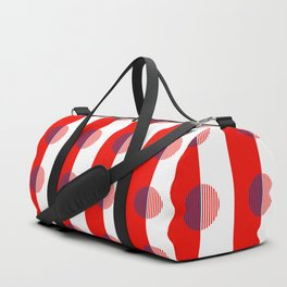 Horizons Geometric Sun Shine Stripe Design 16 - Red White Blue Duffle Bag