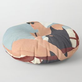 Beach Life Floor Pillow