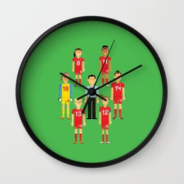 Pixel Players Canada Wall Clock