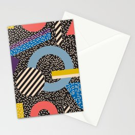 Memphis Inspired Pattern 4 Stationery Cards