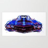 sport Art Prints featuring super sport by Vector Art