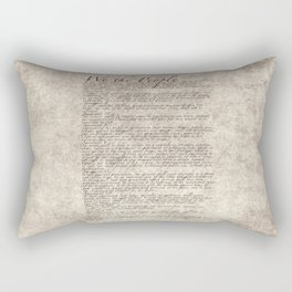 US Constitution - United States Bill of Rights Rectangular Pillow