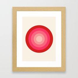 Keepin' on - 70's style retro vibes throwback minimal 1970s art decor gifts Framed Art Print