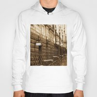 melbourne Hoodies featuring Collins St, Melbourne, Australia by SwanniePhotoArt