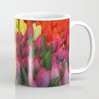 tulips Mugs featuring Tulips by Bizzack Photography