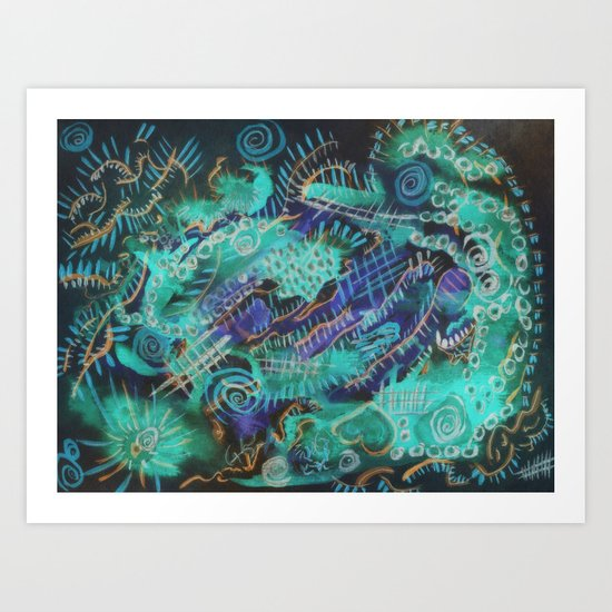 Paint the wall collection 1 Art Print