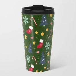 It's Christmas Time Colourful Pattern III Travel Mug
