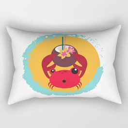 Tropical Crab Rectangular Pillow