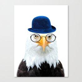 Funny Eagle Portrait Canvas Print