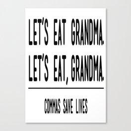 Let's Eat Grandma - Commas Save Lives Canvas Print
