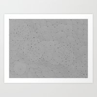 Gray Nebulae Art Print