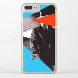 The Maltese Falcon - Collage artwork Clear iPhone Case