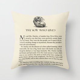 The Boy Who Lived Throw Pillow