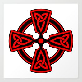 Ornamental Celtic Cross Art Print