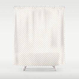 Eggnog Polka Dots Shower Curtain
