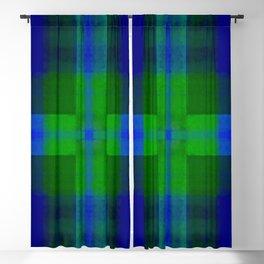 Cobalt Blue Dye Batik Cross Blackout Curtain