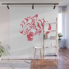 Pink tiger Wall Mural