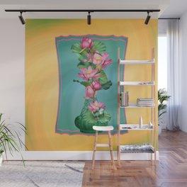 Spring Lotus Genie Bottle Wall Mural