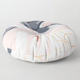 Elegant Zen Marbled Effect Design Floor Pillow