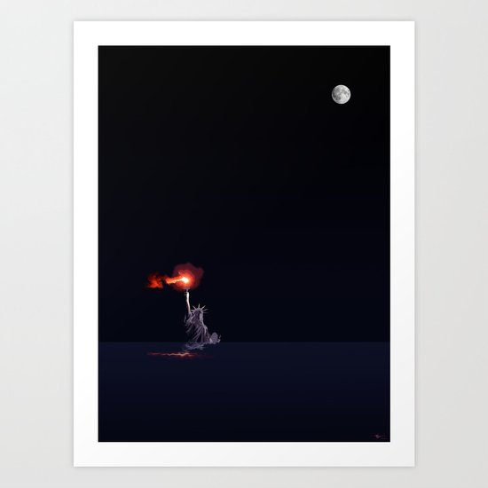 Light from the Deep Art Print