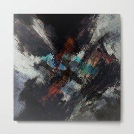 Dark painted abstract art Metal Print