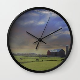 Down a Country Road Wall Clock