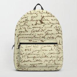 Original Paganini letter Backpack