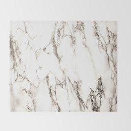 Brown Veined Marble Throw Blanket