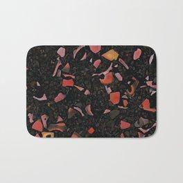 Black terrazzo and orange red Bath Mat