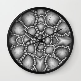 Chaotic Clusters Macro Abstract Wall Clock