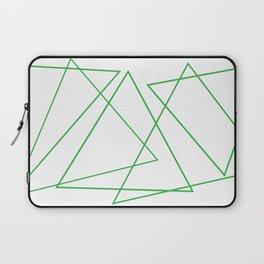White & Green Laptop Sleeve