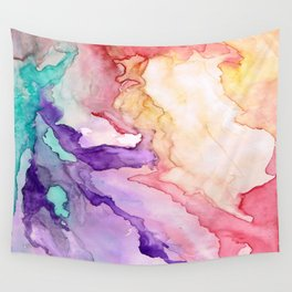Color My World Watercolor Abstract Painting Wall Tapestry