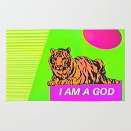 I Am A God  Rug