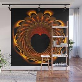 Dragon's Fiery Heart Wall Mural