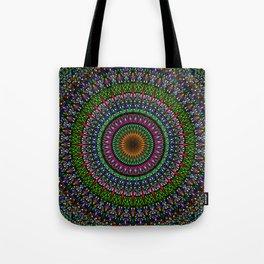 Hypnotic Church Window Mandala Tote Bag