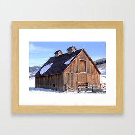 A Crested Butte, Colorado Barn at Below Zero Degrees Framed Art Print