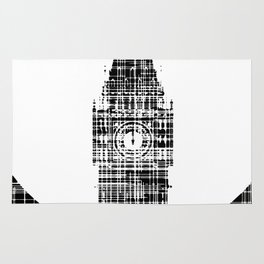 Big Ben Grunge Background Rug