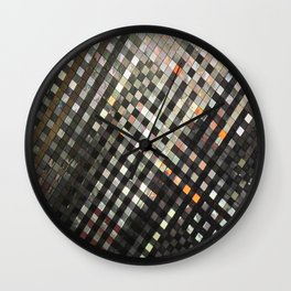 Checkered Reflections II Wall Clock