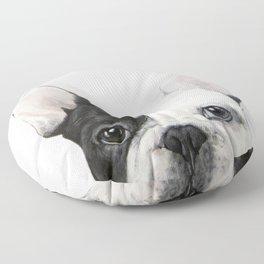 French Bulldog Dog illustration original painting print Floor Pillow