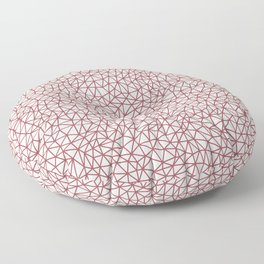 Red and Off White Triangle Shape Pattern 2021 Color of the Year Passionate & Bohemian Lace Floor Pillow