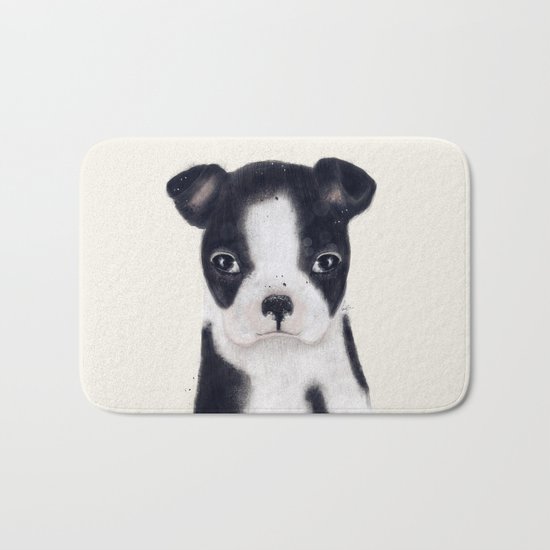little boston terrier Bath Mat
