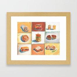 Sandwiches Framed Art Print