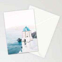 Santorini Greece Mamma Mia Church Photography Stationery Cards