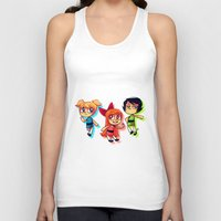 powerpuff girls Tank Tops featuring PowerPuff Girls by lemonteaflower