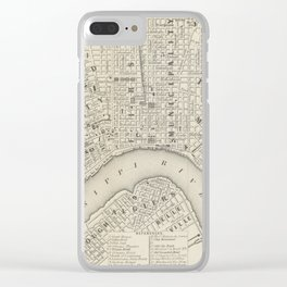 Vintage Map of New Orleans LA (1866) Clear iPhone Case