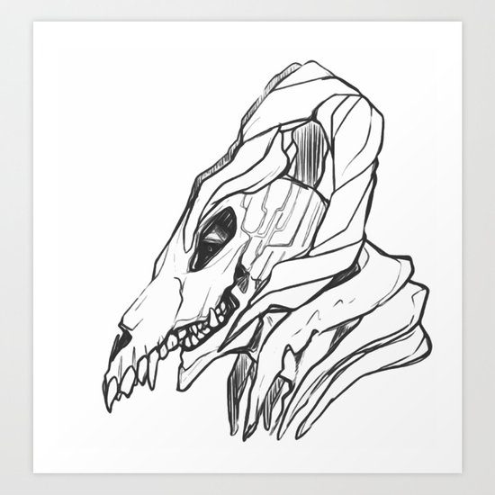 my head Art Print