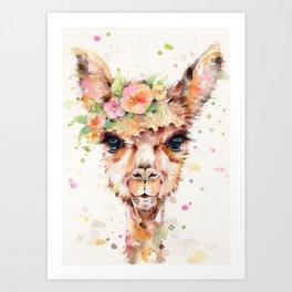 Little Llama Art Print